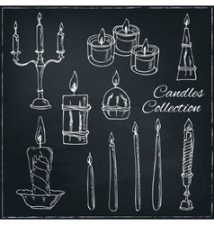 Hand drawn set of candles vector