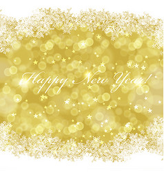 Happy new year greeting card with golden vector