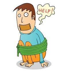 Hostage cartoon vector image vector image