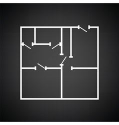 Icon of apartment plan vector