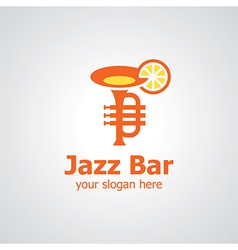 Jazz bar logo vector