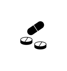 pills and tablets solid icon medicine vector image vector image
