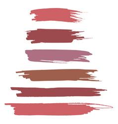 realistic brush strokes vector image