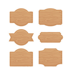 set of wooden sign boards for sales prices vector image vector image