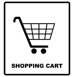 Shopping cart sign mandatory vector