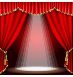 Stage with red curtain clipping mask mesh vector