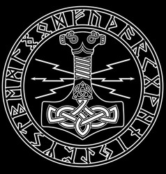 Thors hammer - mjollnir and the scandinavian vector