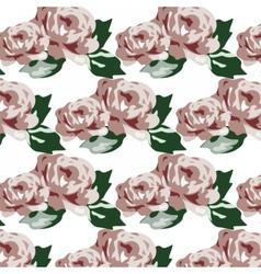 Vintage roses pattern vector