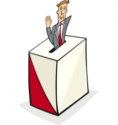Voting icon vector