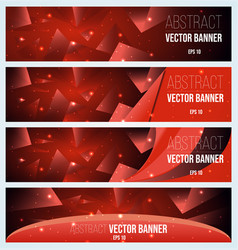 Web banner flyer and cover with red triangle vector