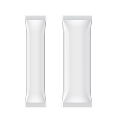 White Blank Foil Packaging Stick Medicine Drugs Or vector image vector image