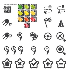 Set of navigational icons vector