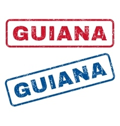 Guiana rubber stamps vector