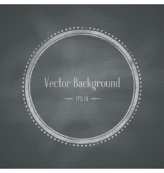 Chalkboard Retro Background vector image