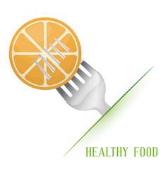 Orange healthy food diet vector