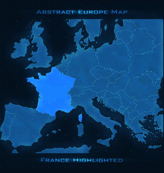 Europe abstract map france vector