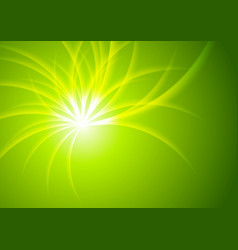 Green shiny abstract beams background vector