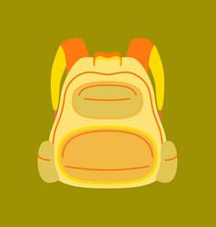Flat icon on stylish background fashionable bag vector
