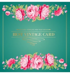 Luxurious vintage frame vector image
