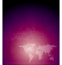 Abstract purple tech background vector image