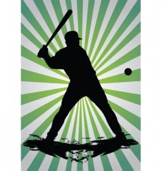 Baseball silhouette vector