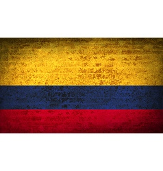 Flags colombia with dirty paper texture vector
