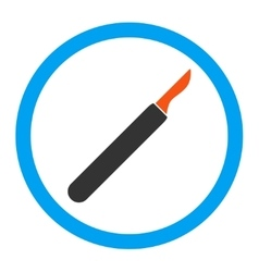 Scalpel rounded icon vector