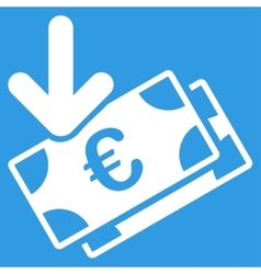 Euro income icon vector