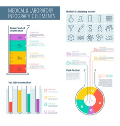 Medical lab infographic vector