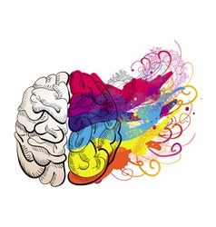 creativity concept - brain vector image