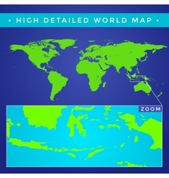 High detailed world map vector