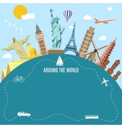 World travel planning summer vacations vector