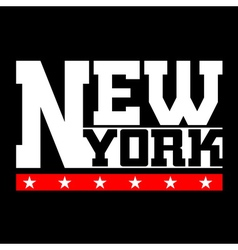 T shirt typography new york vector