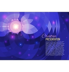 Abstract background with flare vector