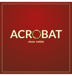 Acrobat logo vector image vector image