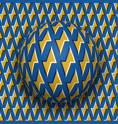 ball with a golden lightnings blue pattern rolls vector image vector image