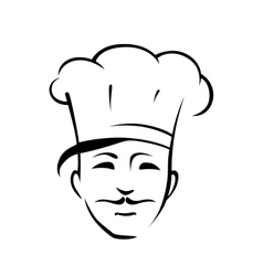 Chef with a moustache and toque vector image vector image