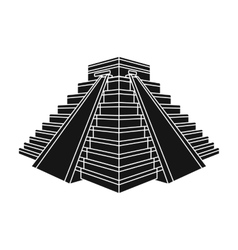 Chichen itza icon in black style isolated on white vector