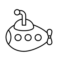 cute submarine toy isolated icon vector image