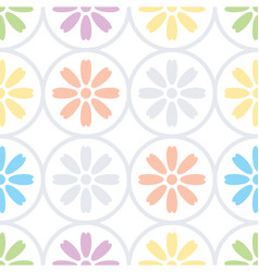 Daisy floral seamless pattern vector