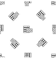database and brick wall pattern seamless black vector image vector image