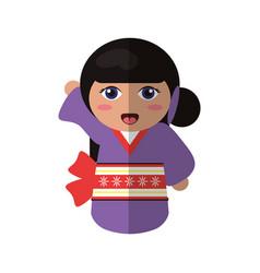 Doll kokeshi japanese image vector