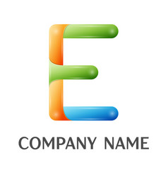 E letter colorful logo vector