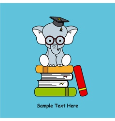 elephant sitting on top of books vector image vector image