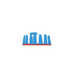 flat icon stonehenge element vector image