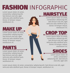 girl in spring clothes fashion infographic vector image