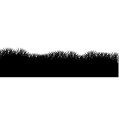 Grass black silhouette nature plant and field vector