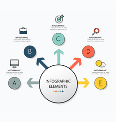 Infographic design with icon for business vector