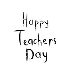 Inscription Happy teacher day vector image