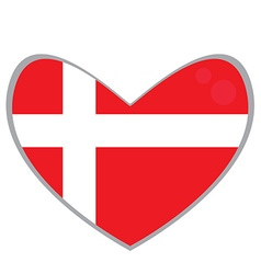 Isolated Danish flag vector image vector image